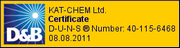 KAT-CHEM Ltd. - D&amp;B Certificate